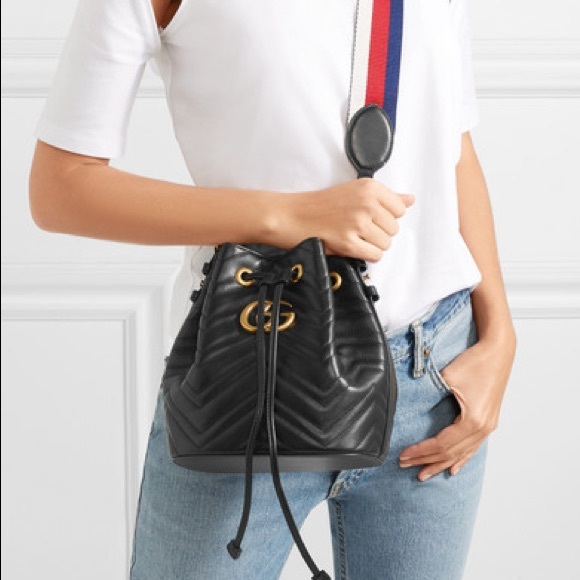 f24d417d42 GG Marmont quilted leather bucket bag